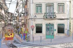Streetcar in Lisbon