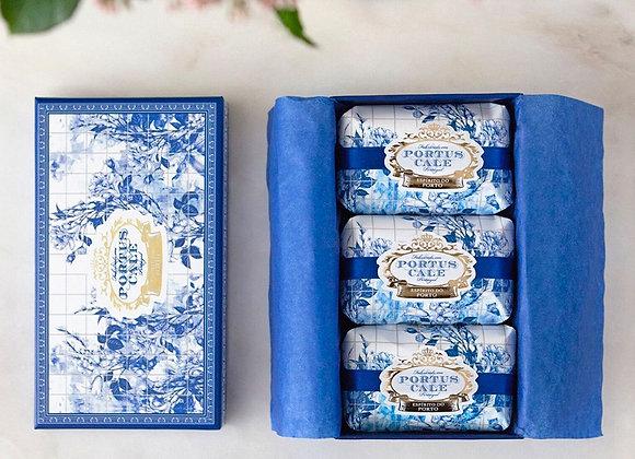 Portus Cale Gold & Blue Soap Set
