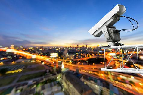 CCTV cameras, security cameras. With the