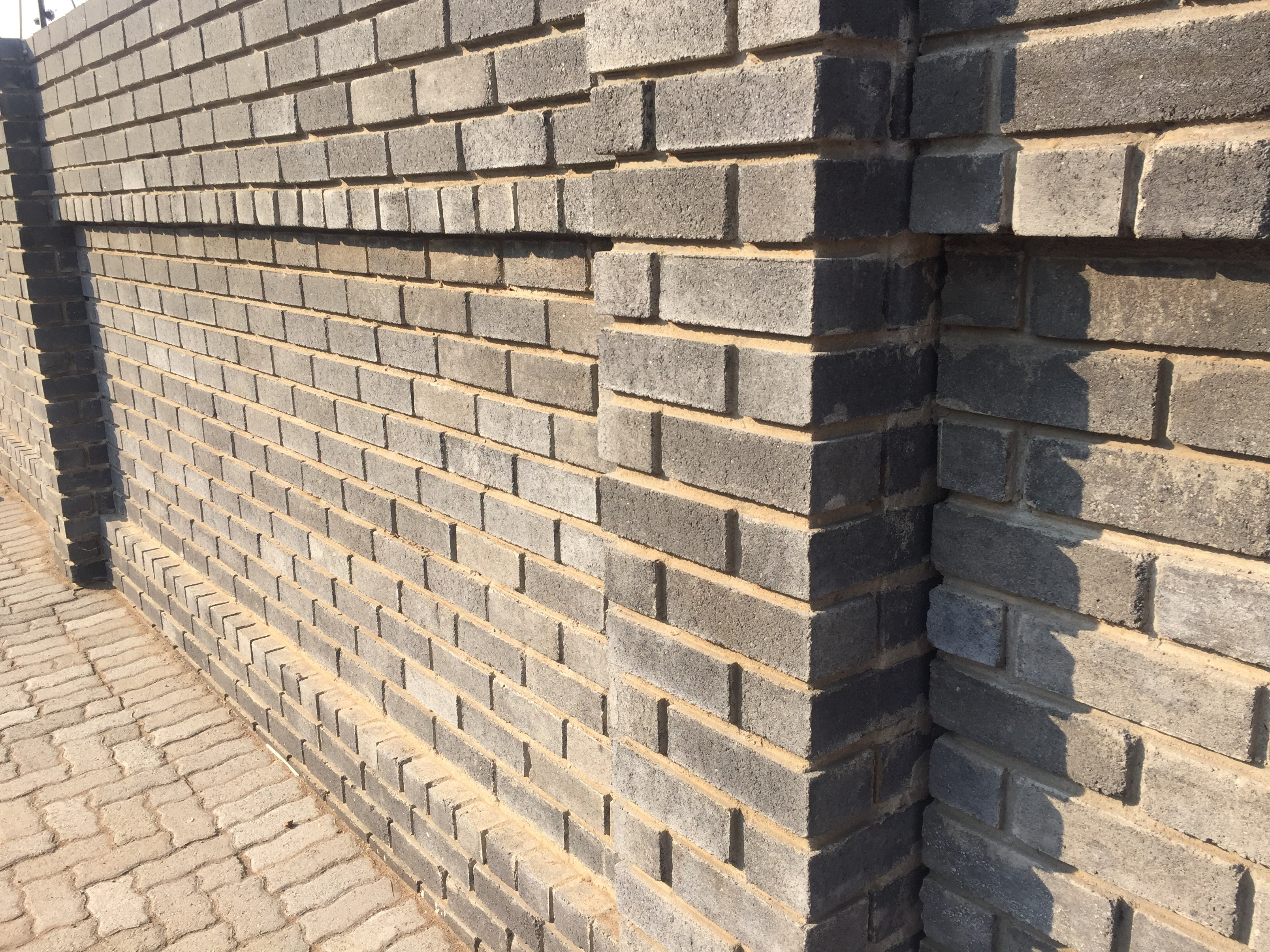 Cement Semi Face Satin Face Charcoal Brick