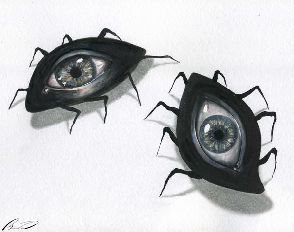 Eyes runs up