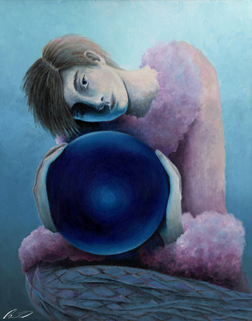 With the blue sphere