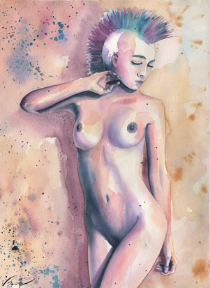 Girl with mohawk naked#2