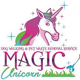 Magic Unicorn dog walking and pet waste removal services logo
