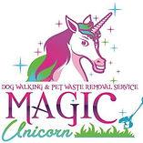 Magic Unicorn dog walking and pet waste removal services logo