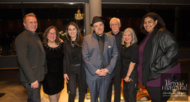 L-R: Jim Welter (Yamaha Canada Music Ltd), Kelly Peterson, Alexis Spieldenner (Bravo Niagara), Robi Botos, Dr. Dave Young, Christine Mori (Bravo Niagara), Céline Peterson.