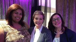 Kelly & Céline Peterson with Dame Julie Andrews