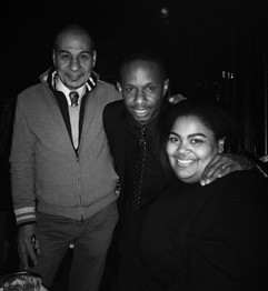L-R: Tarik Osman (SMOKE Jazz Club), Willie Jones III, Céline Peterson