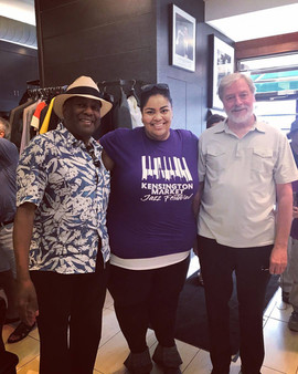 Céline Peterson with Joe Sealy & Don Thompson at KMJF 2017