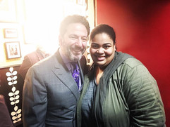 John Pizzarelli & Céline Peterson backstage at Birdland (2017)