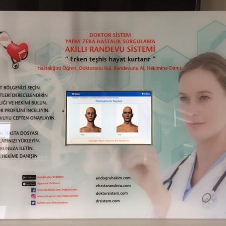 Türkiye'deilk defa interaktif sanal sağlık danışmanlığı kioskları üretildi