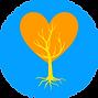 Logo créé à partir de celui de Cendrine Fuchs et de Pierrette, Aguet, Coeur et arbre de vie