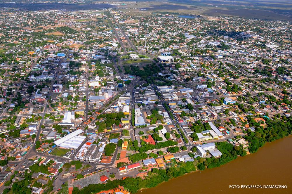 Foto tirada do alto da cidade de Boa Vista