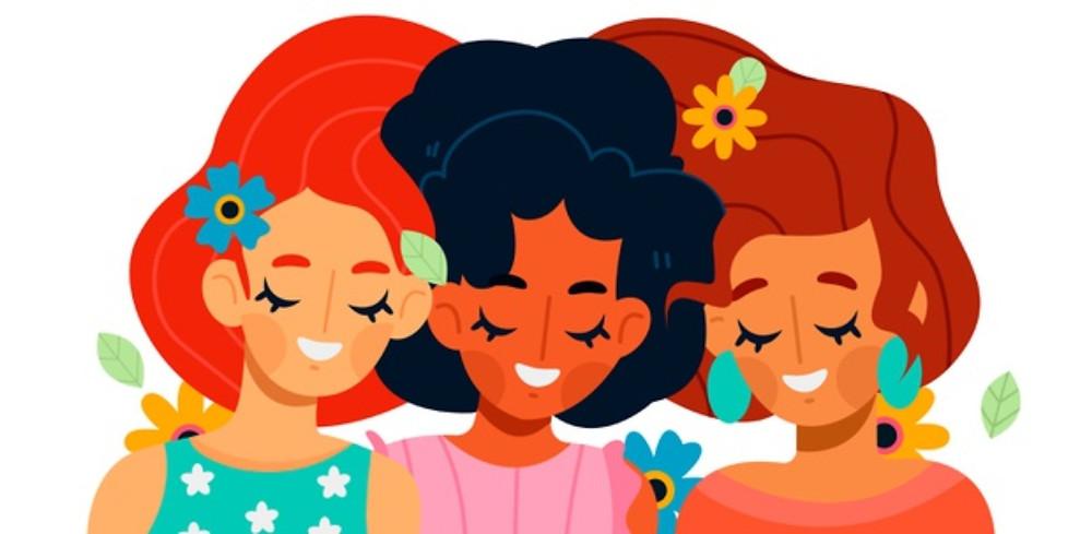 Imagem em vetor com três mulheres
