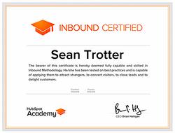 Hubspot Inbound Marketing Certified
