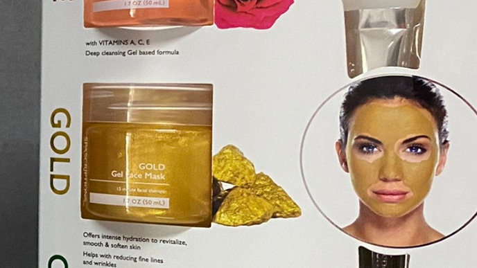 SPAScriptions rose, gold and cucumber gel face mask