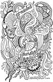ocean themed hand drawn illustration for colouring in, suitable for adults and children, with positive affirmations.