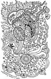 fun hand drawn illustration for colouring in, suitable for adults and children, with positive affirmations and turtles.