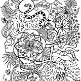 fun hand drawn illustration for colouring in, suitable for adults and children.