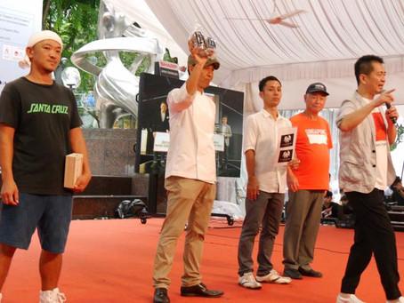 日・シンガポール外交関係樹立50周年記念イベント「SJ50」のメインステージで受賞報告&商品販売