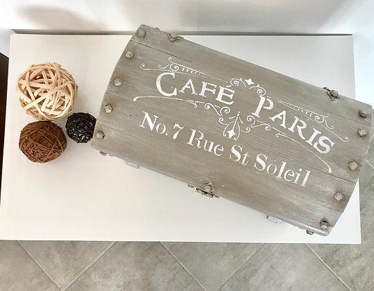 """Petit coffre déco        """"Café de Paris"""""""
