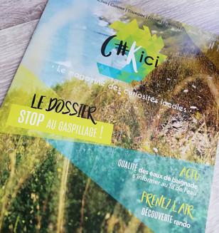 Logo, charte et mise en page de Magazine 16 pages, projet d'étude