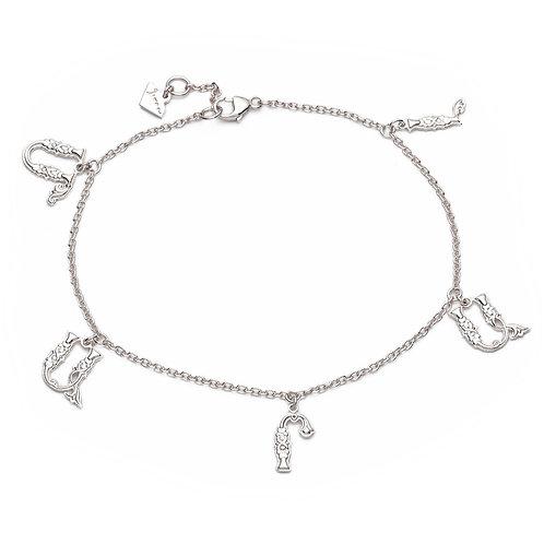 Armenian Five Letters Bracelet in Sterling Silver