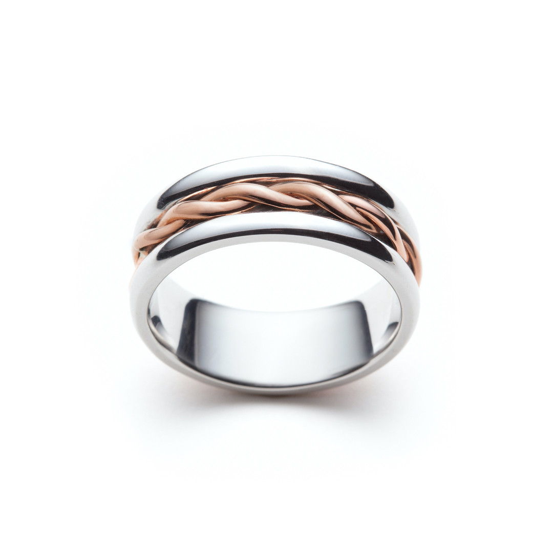 Mixed Metal Signature Wedding Band