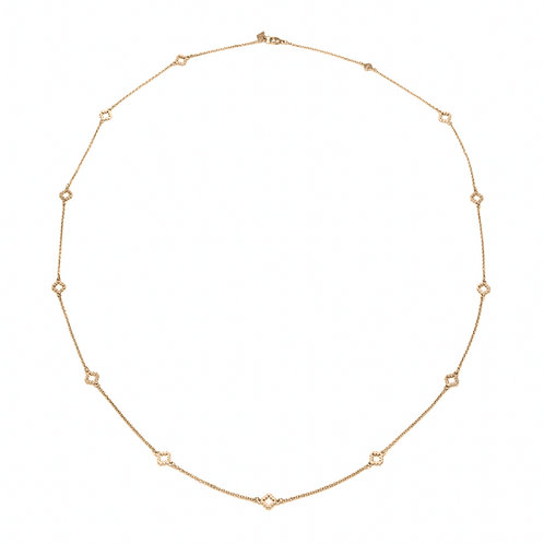 Opera Motif Necklace in Yellow Gold