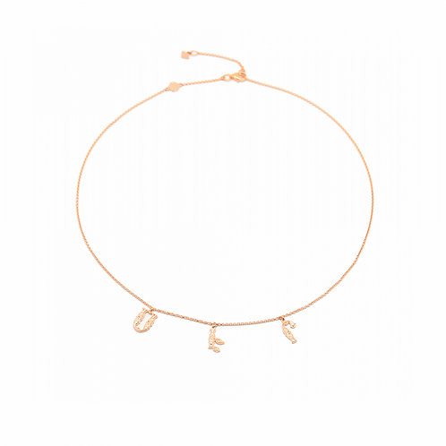 """Armenian """"Love"""" Necklace in Rose Gold"""
