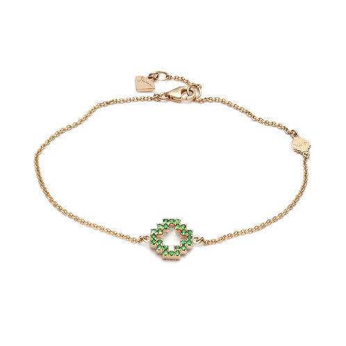 Tsavorite and Diamond Pavé Reversible Motif Bracelet