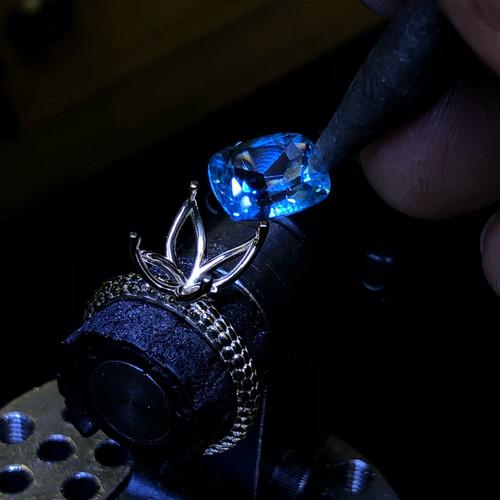 Custom Design Engagement Ring Stone Sett