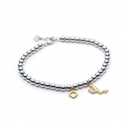 Armenian Letter Charm Bracelet in Yellow Gold
