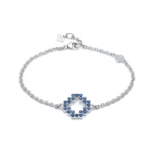 Sapphire and Diamond Pavé Reversible Large Motif Bracelet
