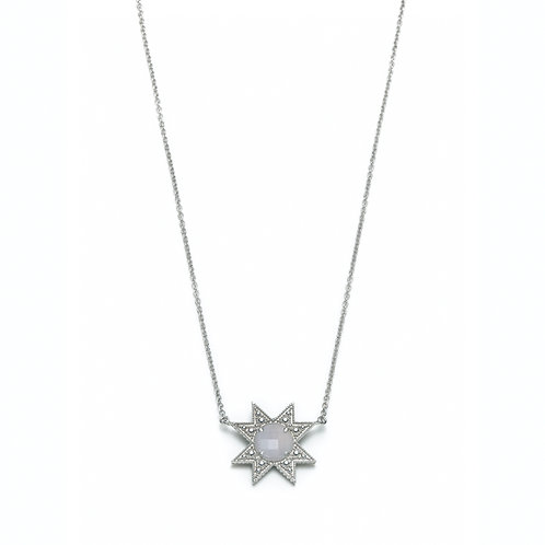 """""""Asteri"""" Chalcedony Necklace in White Gold"""