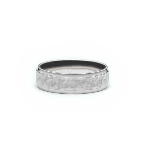 Hammered Matte Finish Men's Wedding Band