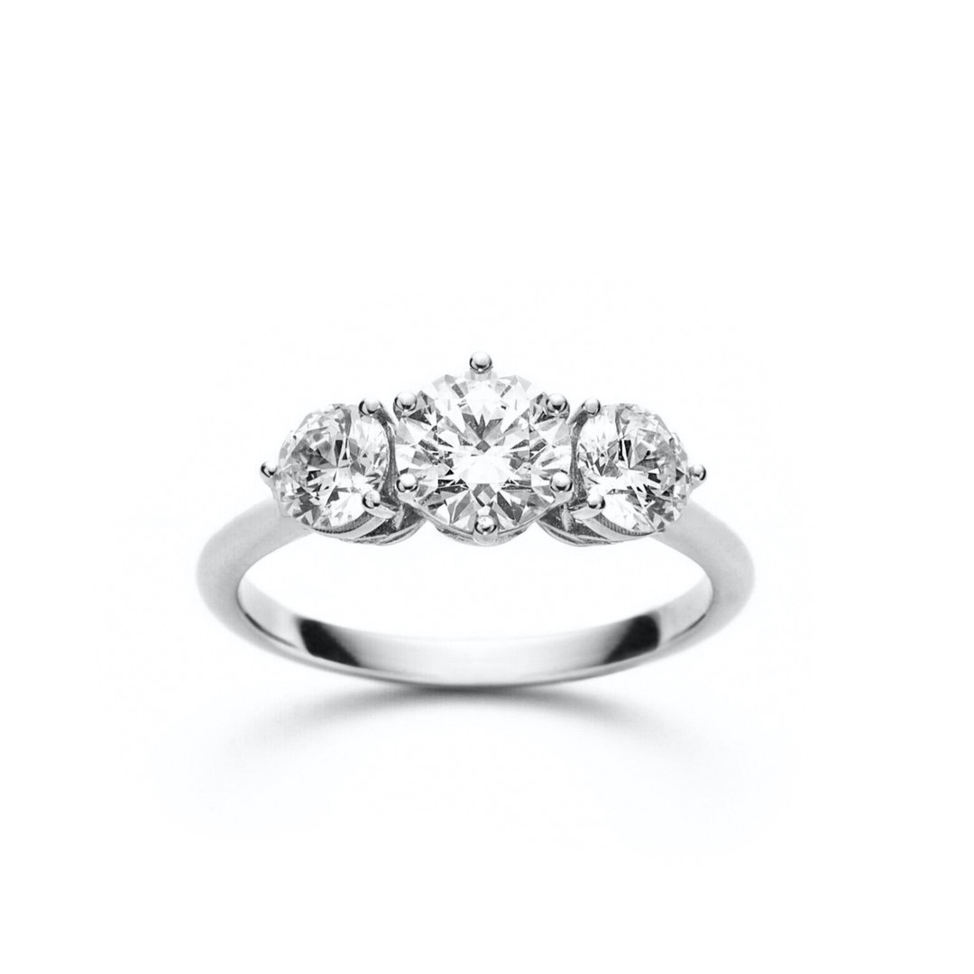 Sara Round Diamond Three Stone Engagemen