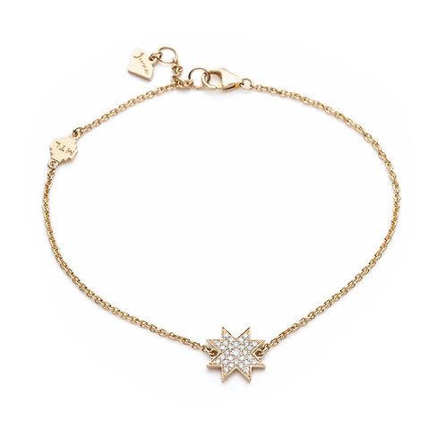 """Asteri"" Diamond Pavé Motif Bracelet in Yellow Gold"