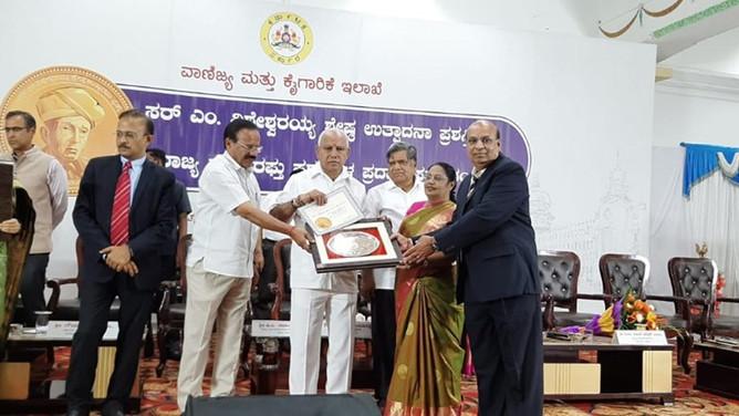 Bentley receives Sir M Visvesvaraya Manufacturing Excellence Award