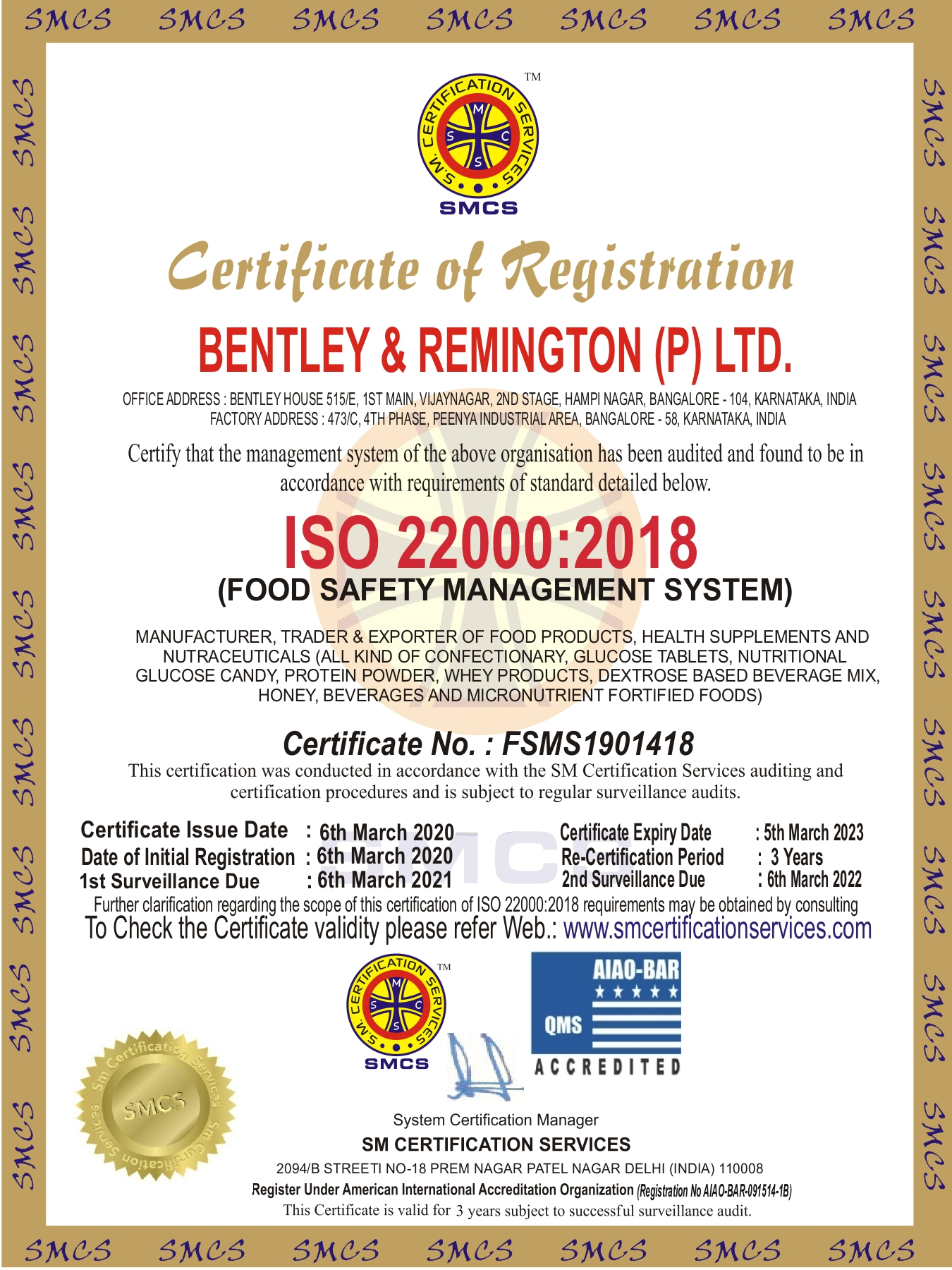 Bentley ISO 22000 Certificate_page-0001.