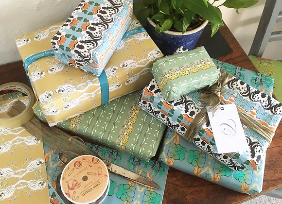 'Born Free' Wrapping Paper Set - 4 designs