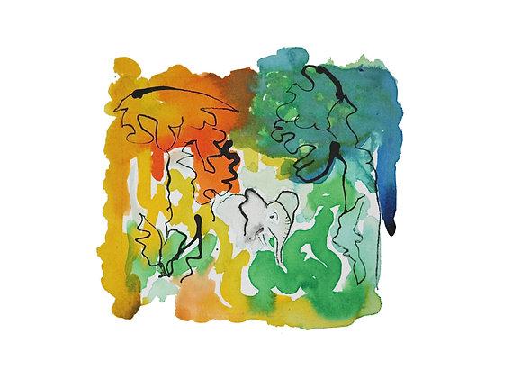 Elephant (in colour) Giclee Print Ltd Ed / 50