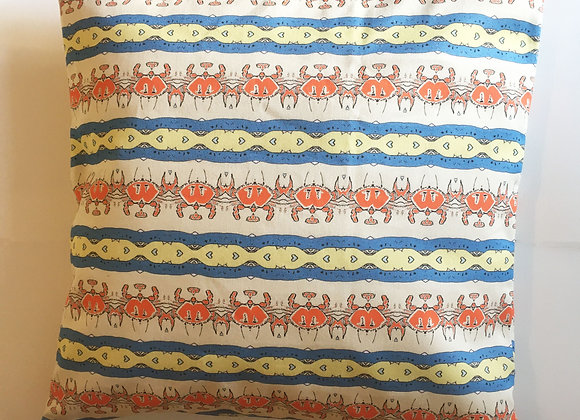 "Crab Alert Cushion Cover 16 x 16"" (40 x 40cm)"
