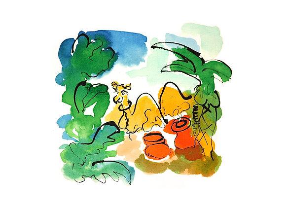 Camel (in colour) Giclee Print Ltd Ed / 50
