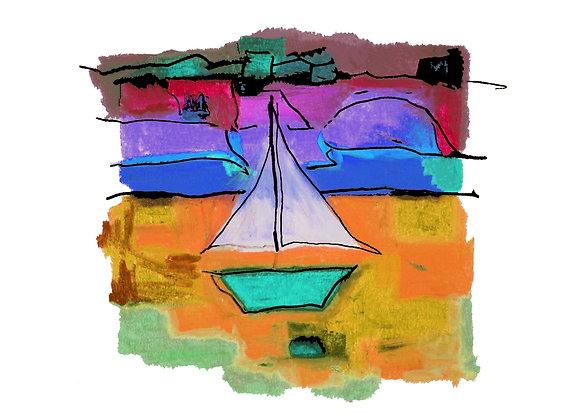 Sailing by Digital Print