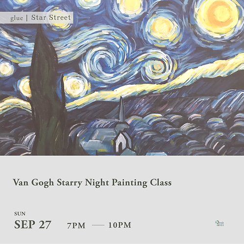 Van Gogh Starry Night Painting Class