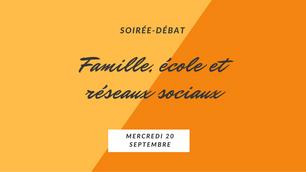 Soirée-débat sur le numérique en famille