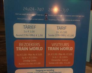 Parking de la gare de Schaerbeek et du Train World :  Accès en soirée et la nuit
