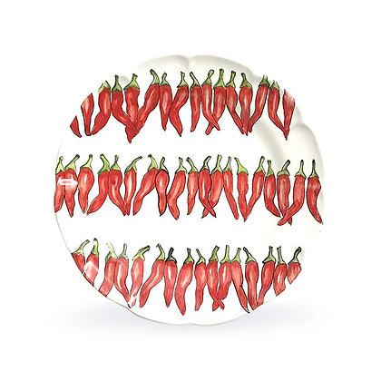 Piatto bianco con peperoncini