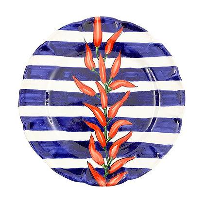 Piatto con Peperoncini a strisce